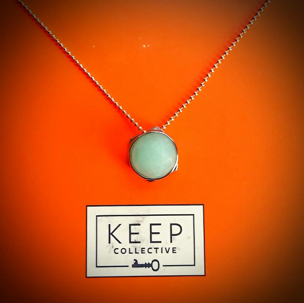 """Our wishing stones can be worn in combination on a Keeper, or simply on one of our 18 or 30"""" chains. You decide: www.ybcharmgirl.com #pendant #necklace #wishingstone #jewelry"""