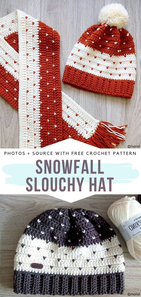 How to Crochet Snowfall Slouchy Hat