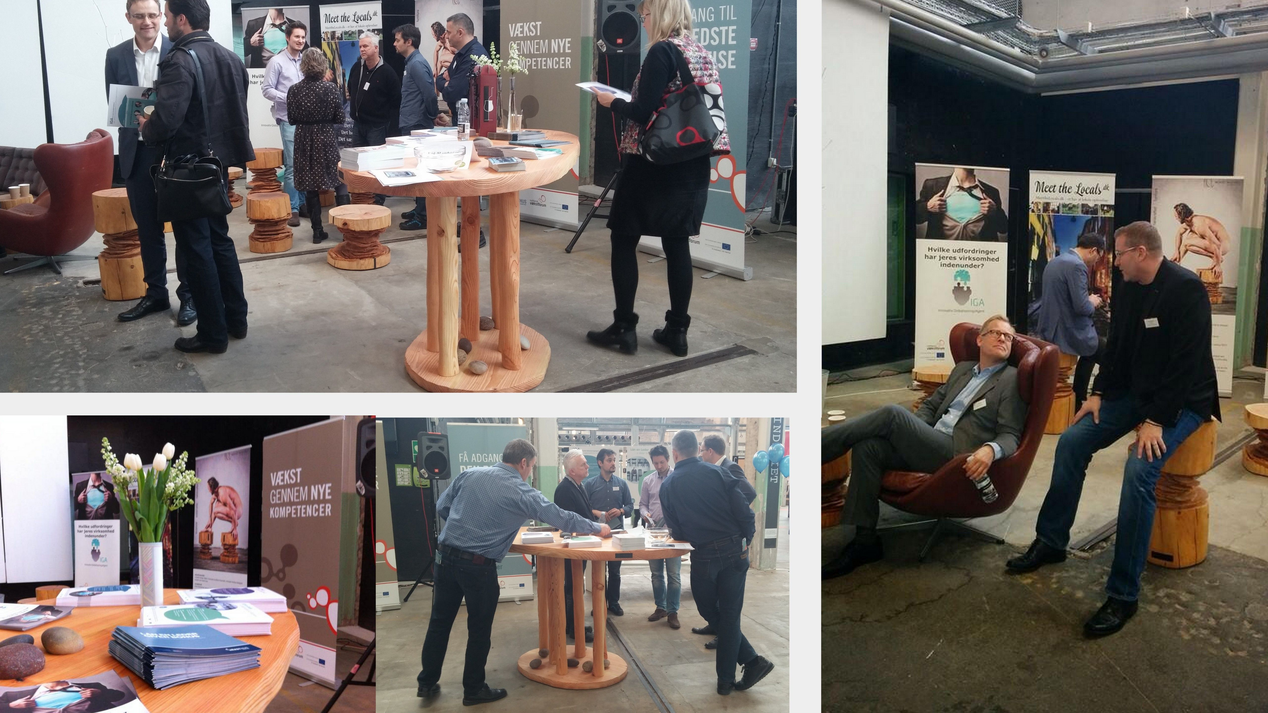 Region Syddanmark / Den Europæiske Socialfond markerede 6. marts stor afslutning på 9 succesfulde projekter i Spinderihallerne, Vejle.  Møblerne bidrog til at skabe en anderledes business lounge. Have a woodnwonderful weekend :-) #woodnwonder #meetingtable #vejle #spinderihallerne #syddanmark #europeancommission #conference #konference #talentattraction #talentprojekter #businesslounge