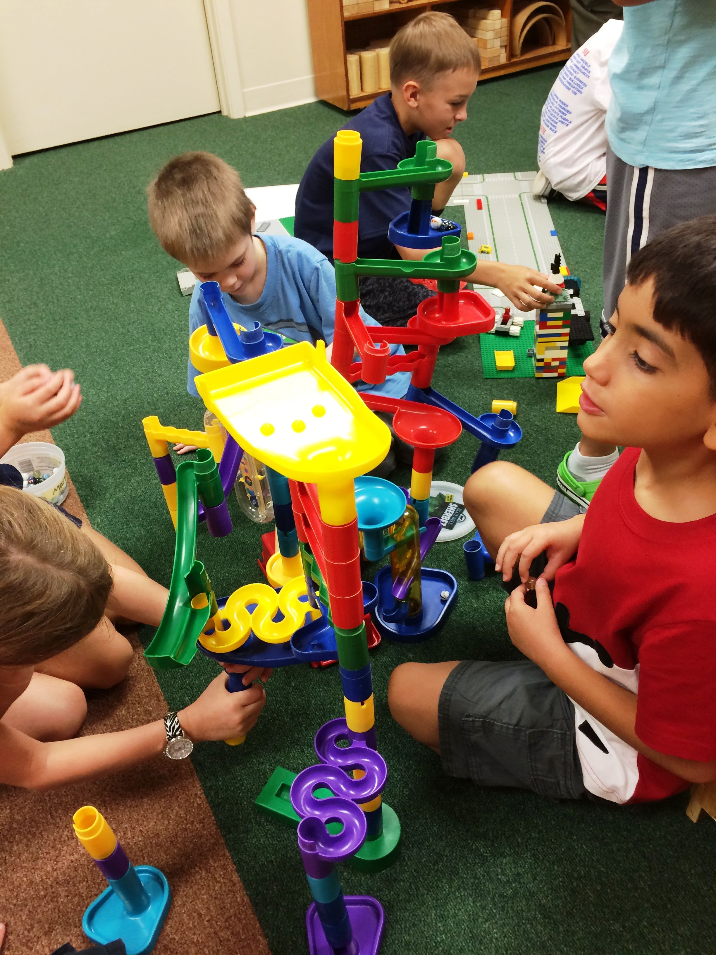Building marble towers https://www.facebook.com/shadyoakprimary