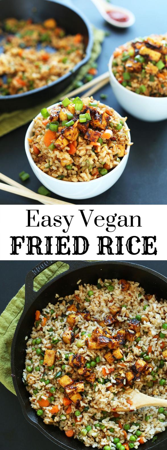 EASY VEGAN FRIED RICE #Vegetarian #Recipes