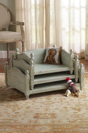 Lovely Stockholm Dog Bed   Wood Pet Bed, Dog Furniture, Pet Bed | Soft Surroundings