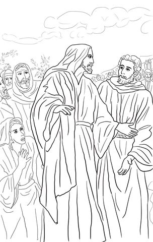 Jesus Heals The Bleeding Woman Coloring Page Free Printable Coloring Pages Jesus Coloring Pages Bible Coloring Pages Christian Coloring