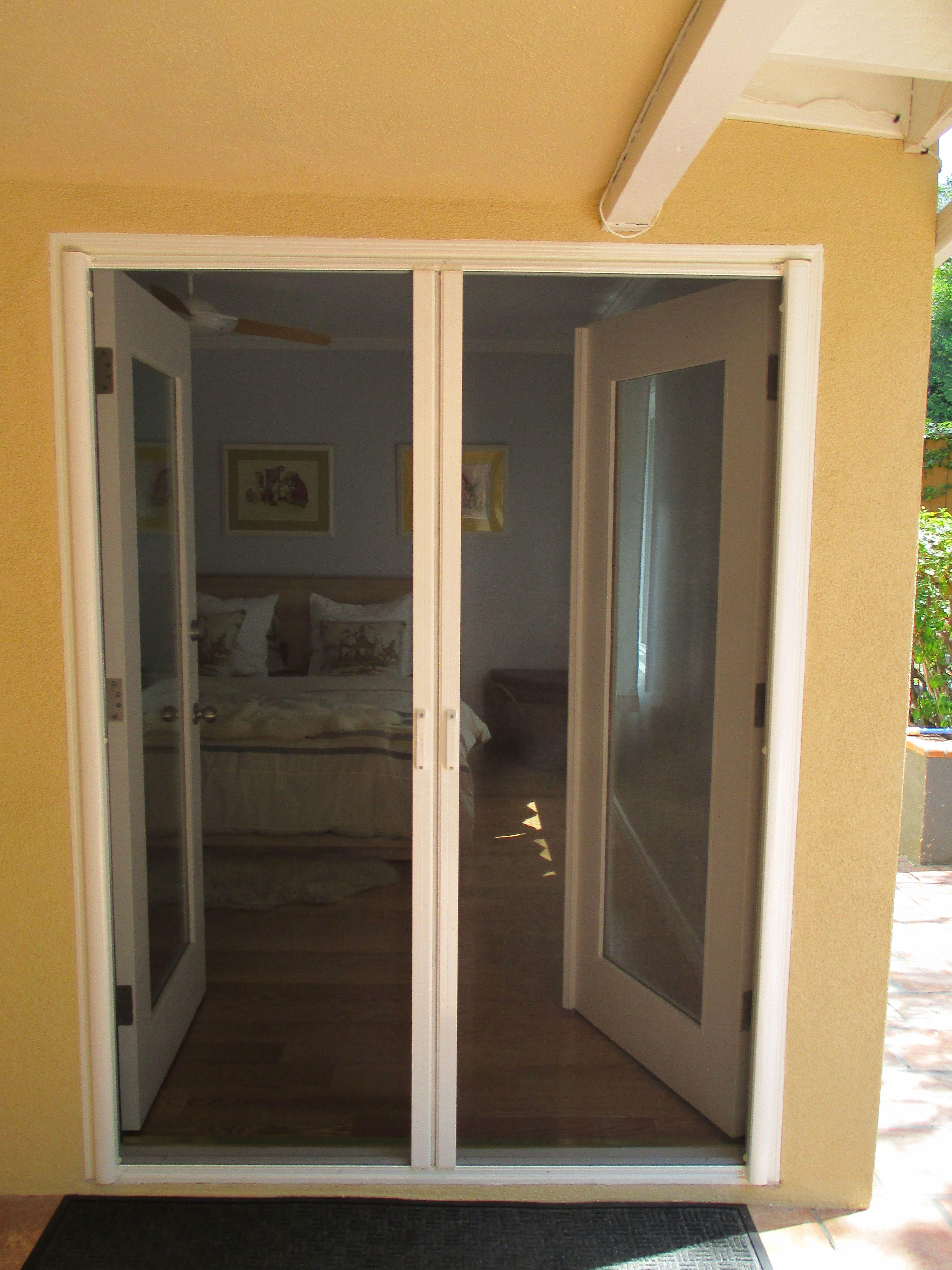 Double Door French Door Stowaway Retractable Screen Doors The