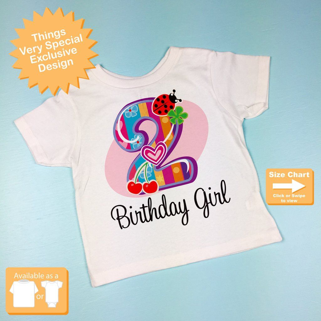 Second Birthday Girl Shirt Fancy Number 2nd Girls Two Year Old Tee 09042014c