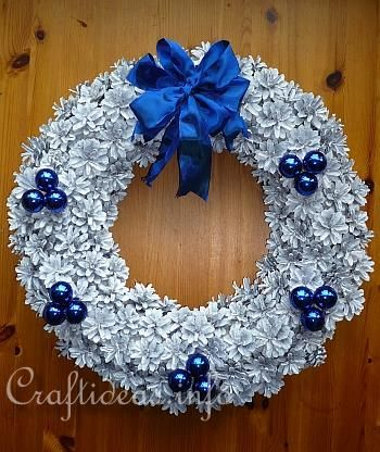 This Pinecone Wreath is just beautiful. -   23 pinecone crafts white ideas