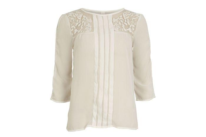 Pleated lace blouse / Blusa pliegues y encaje