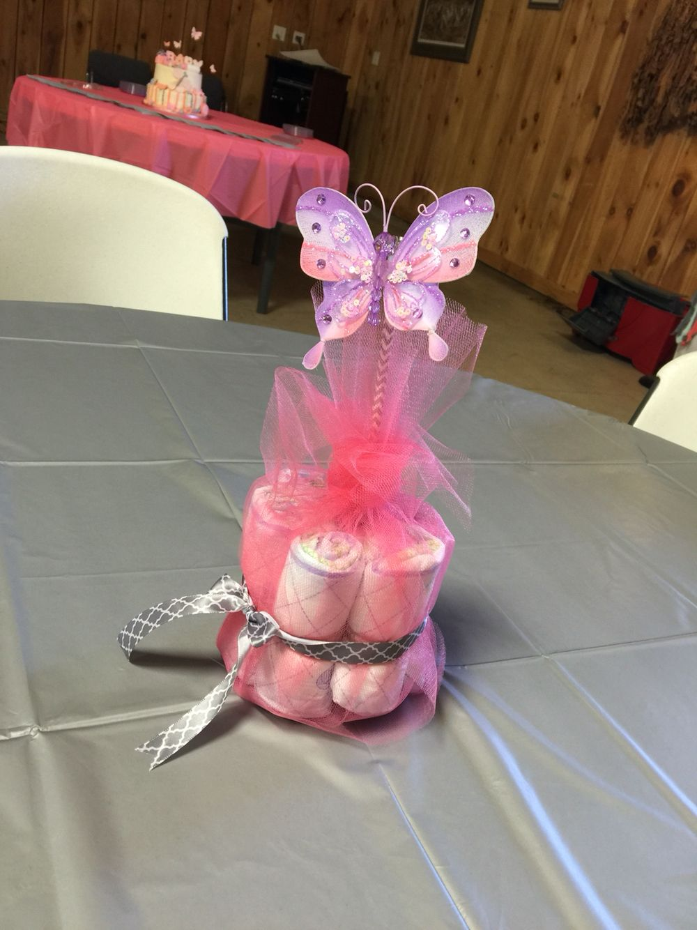 Coral Butterfly Themed Baby Girl Shower Centerpiece More