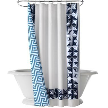 Chinoiserie Chic Chinoiserie Happy Chic White Shower Curtain