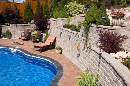 Yard Maintenance, Walkout Basement, Pool Ideas, Backyard Ideas, Garden  Ideas, Outdoor Landscaping, Landscaping With Rocks, Retaining Walls, Hot  Tubs Pictures Gallery