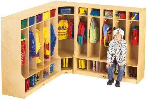 Jonti Craft Children's Corner Coat and Bookbag Storage w Cubbies Includes only the corner unit. Does not include the side cubbies. KYDZSafe edges. KYDZStrong construction. KYDZTuff finish.  #Jonti-Craft #SingleDetailPageMisc