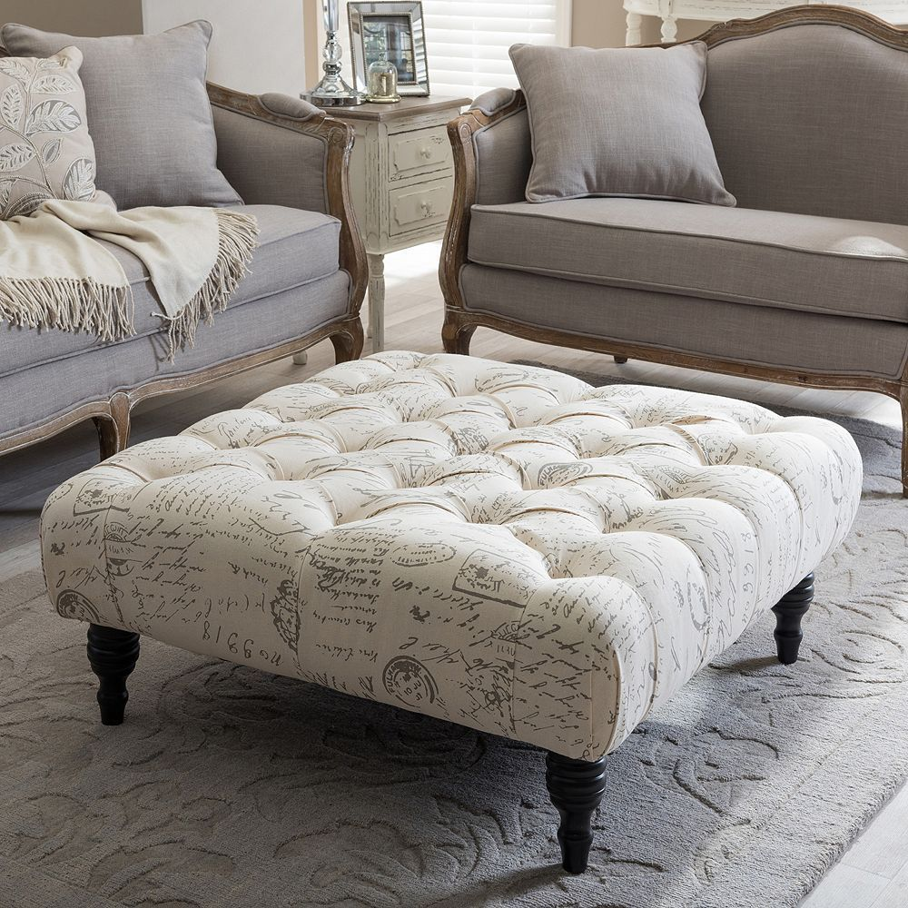 Swell Baxton Studio Keswick Tufted Ottoman Products In 2019 Caraccident5 Cool Chair Designs And Ideas Caraccident5Info