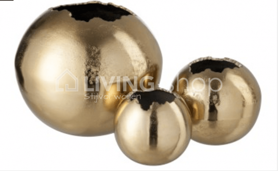 Deco vazen bol goud J-LINE decoratie @ LIVING-shop.eu interieur ...