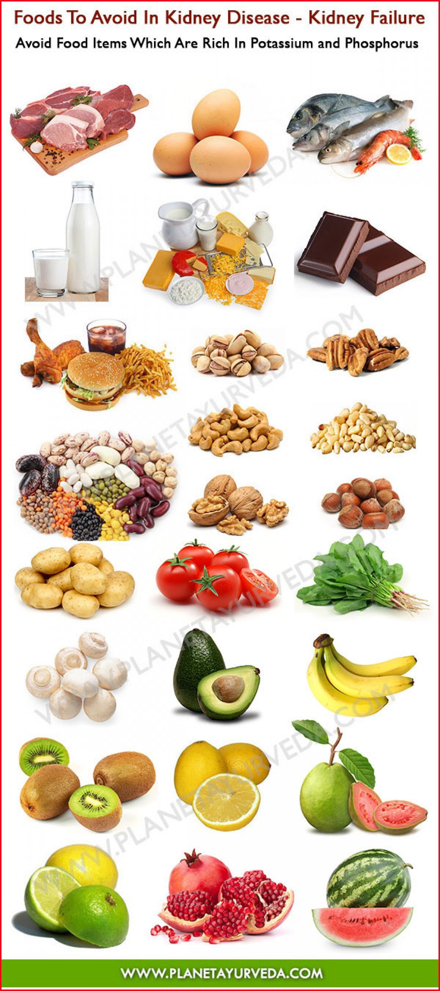 E-Newsletter, 7/22/2014 12:01 PM : Foods To Avoid In Kidney Disease Infographic