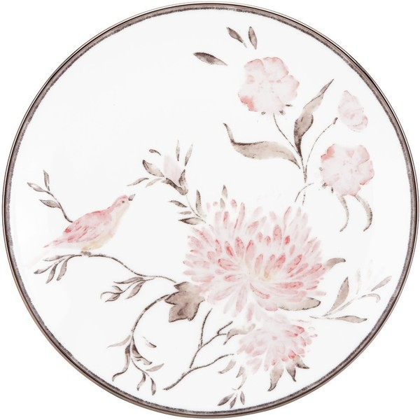 Marchesa by Lenox Spring Lark Accent Plate ($48) ❤ liked on Polyvore featuring home, kitchen & dining, dinnerware, backgrounds, circles, fillers, decoration, frame, borders y picture frame