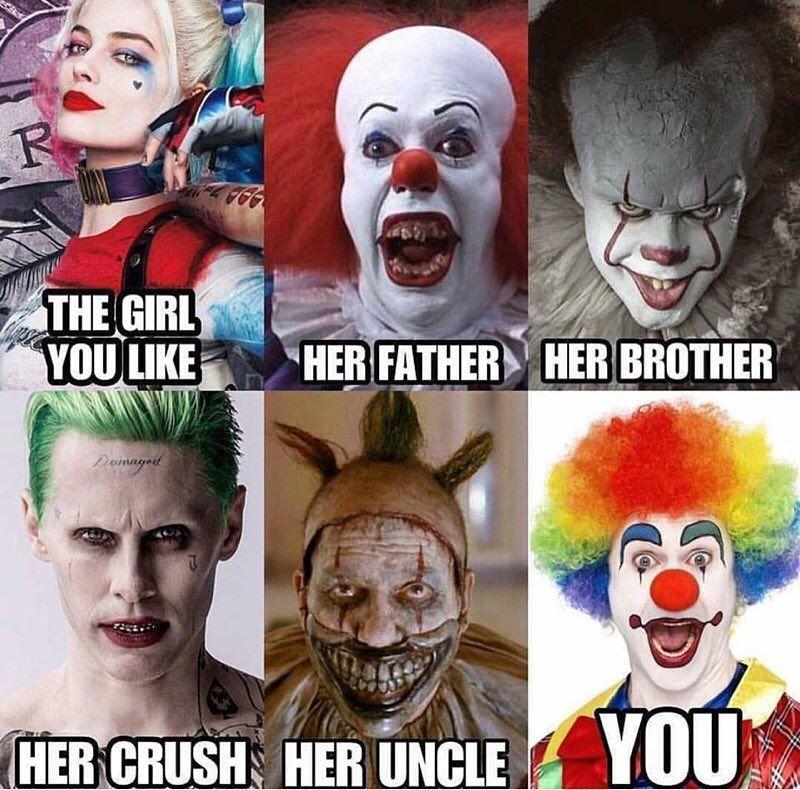 The girl you like joker meme