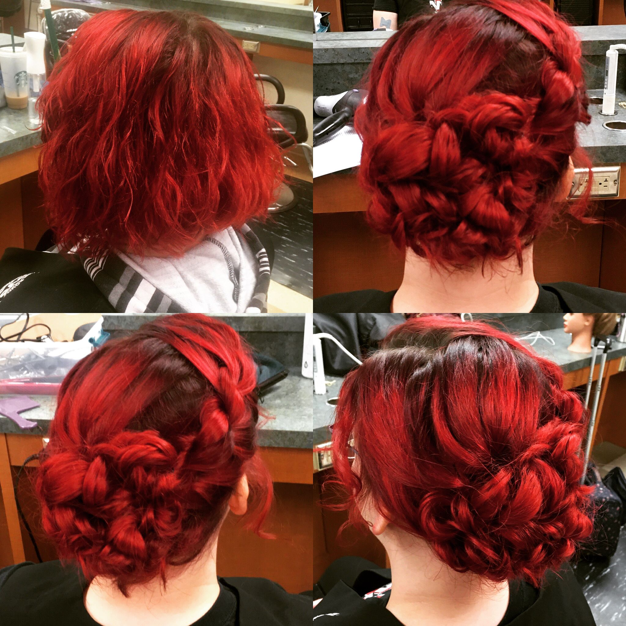 Short Hair Updo Short Red Hair Red Hair Updo Short Hair Updo