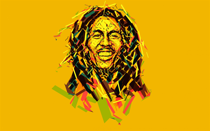 Download Wallpapers Bob Marley 4k Jamaican Musician Art Minimal Yellow Background Besthqwallpapers Com Bob Marley Art Bob Marley Colors Bob Marley Painting