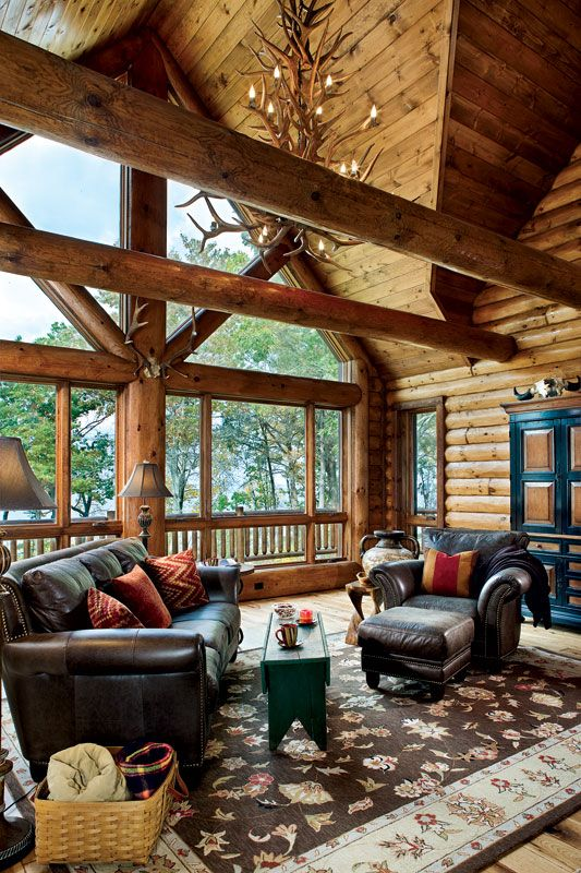 Wisconsin Log Cabin With Lakeside Views R U S T I C