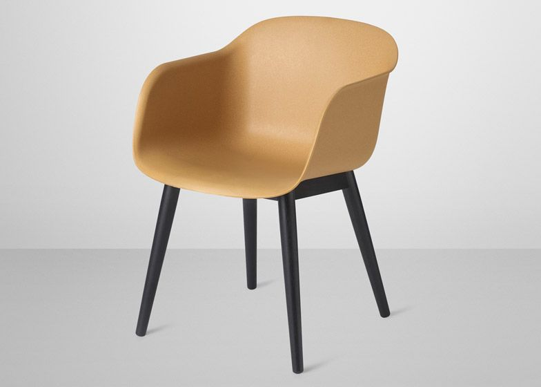 The Plastic Shell Chair Has Been Updated With A Fully Recyclable Equivalent Shell Chair Wood Arm Chair Chair