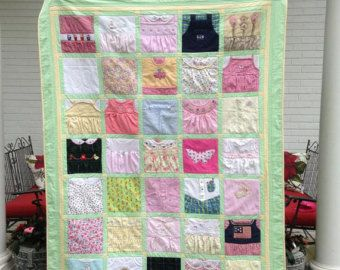 Deposit for a Custom Memory Quilt (t shirts, baby clothes ... : quilt from baby clothes - Adamdwight.com