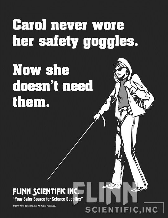 Carol Safety Glasses Poster