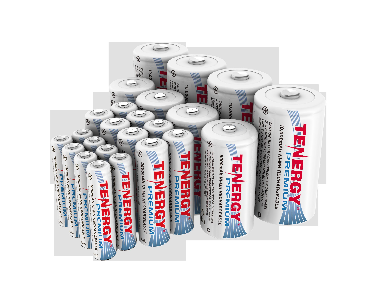 Combo 24pcs Tenergy Premium Nimh Rechargeable Batteries 8aa 8aaa 4c 4d Rechargeable Batteries Nimh Recharge