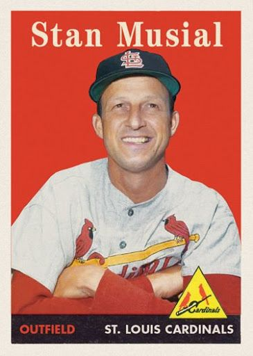 1958 Topps Stan Musial This Was Not An Official Topps Card