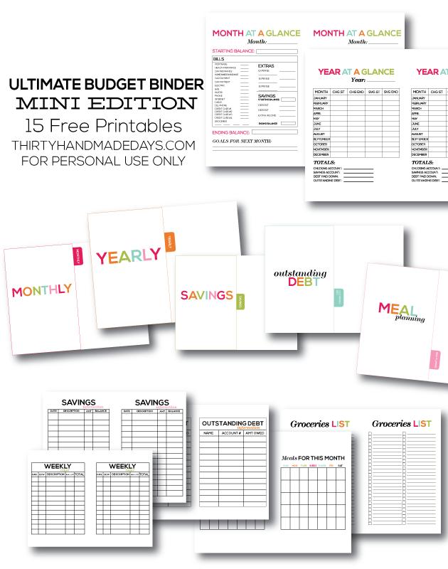 Printable Ultimate Budget Binder- Mini Edition! | Finanzen, Ordner ...