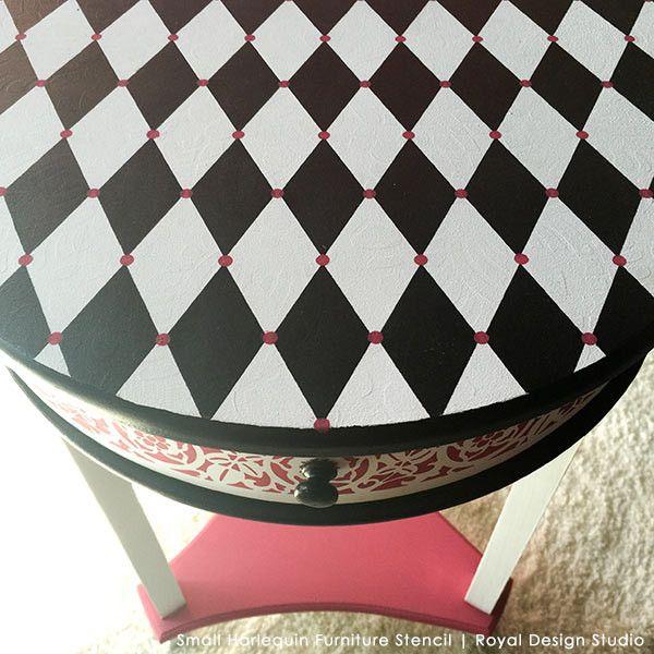 Harlequin Furniture Stencil