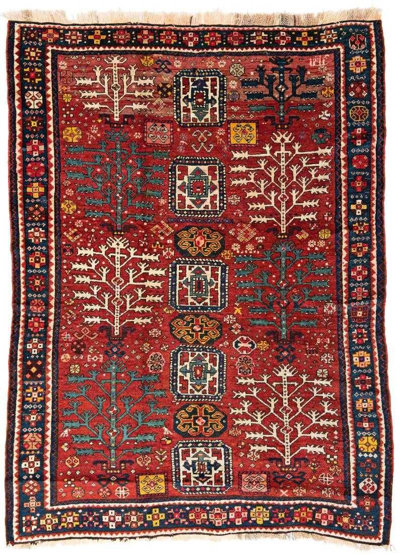 Tree Kazak Rug Tree Kazak 240 X 173 Cm 7 Ft 10 In X 5 Ft 8 In Caucasus Dated 1316 1898 Condition Good Scattered Rugs On Carpet Antique Carpets Rugs