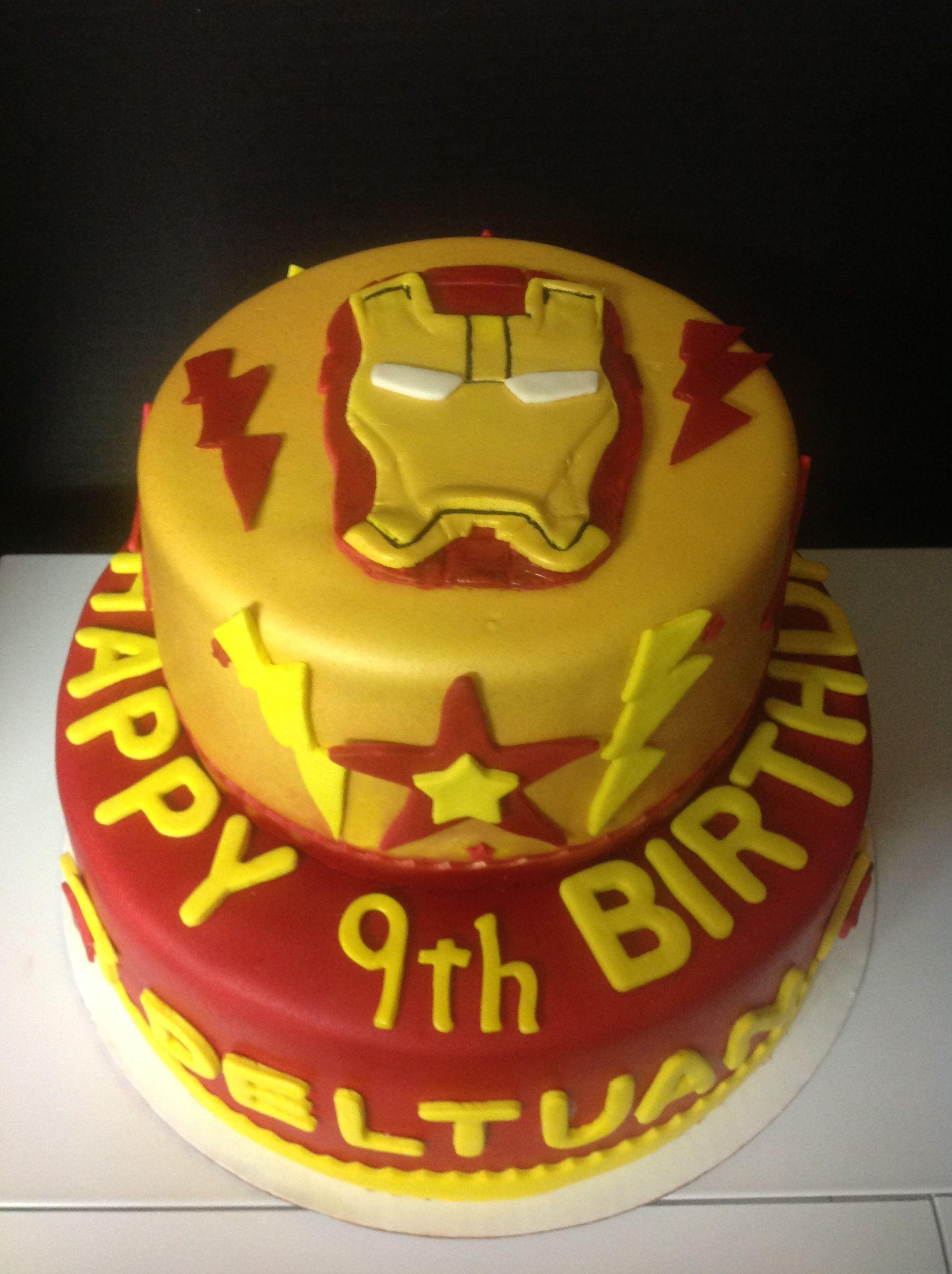 Iron Man Cake Ironman Cake Cake Tiered Cakes
