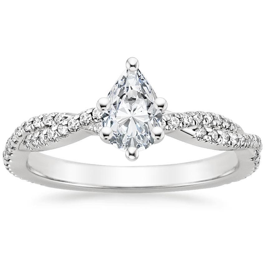 Platinum Petite Luxe Twisted Vine Diamond Ring 1 4 Ct Tw Diamond Engagement Rings Engagement Rings White Gold