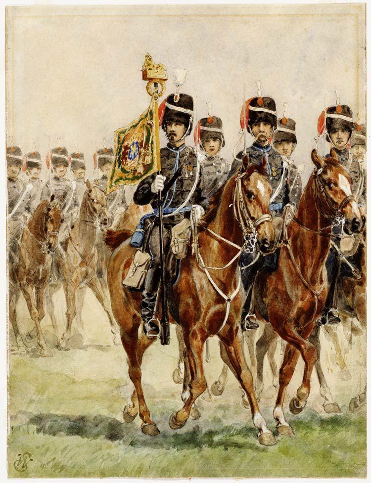 Standaardwacht 1e Regiment huzaren Napoleontisch Pinterest