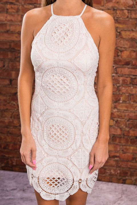 Comes Full Circle Dress, Cream - The Mint Julep Boutique