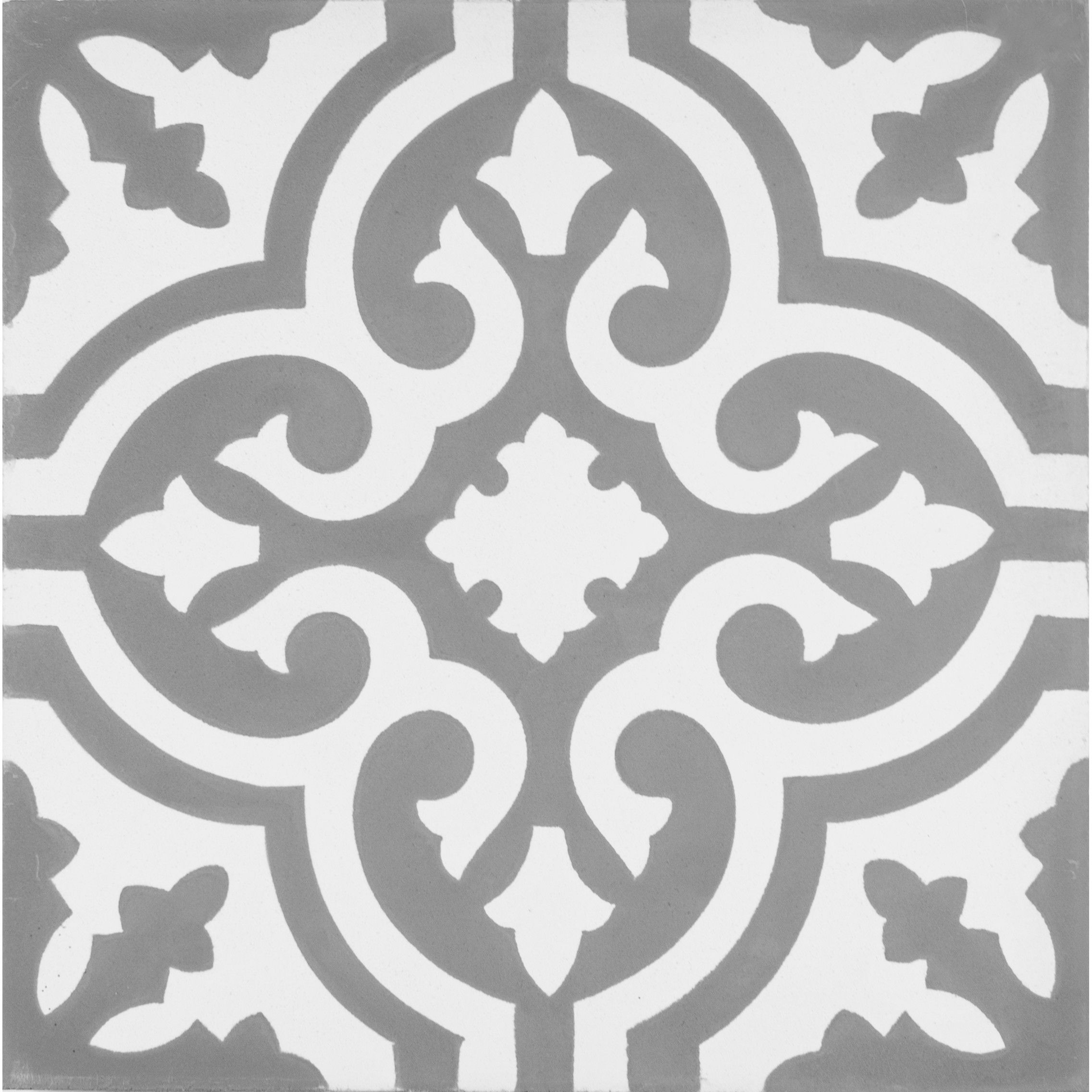 Kellani Mediterranea Floor Ii 8 Quot X 8 Quot Quarry Hand Painted Tile In Gray Beige Hand Painted Tiles Painting Tile Encaustic Tile