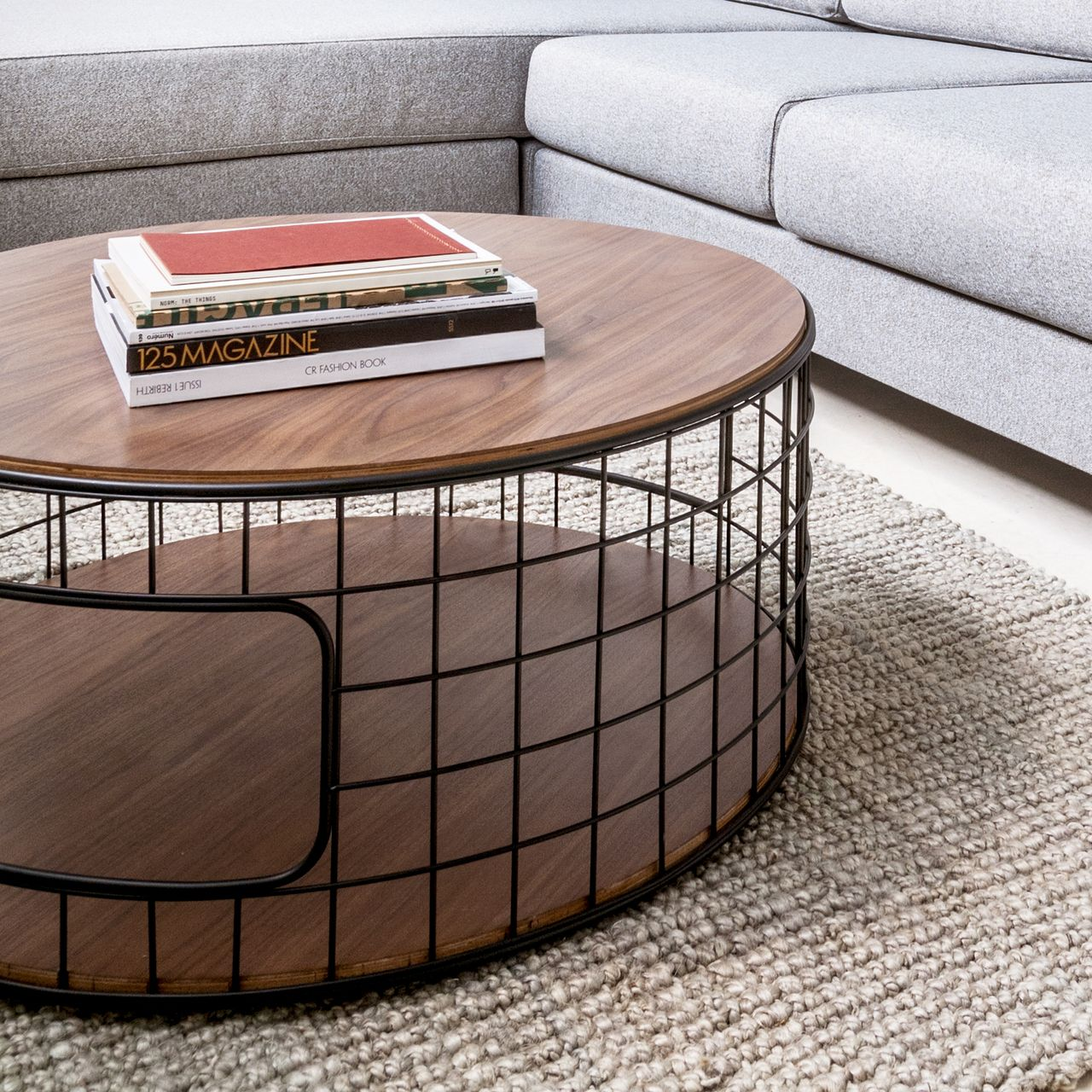 Wireframe coffee table by gus modern furniture pigment