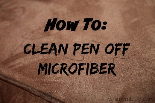 How To Clean Pen Off Microfiber The Anti Mom Blog Easy