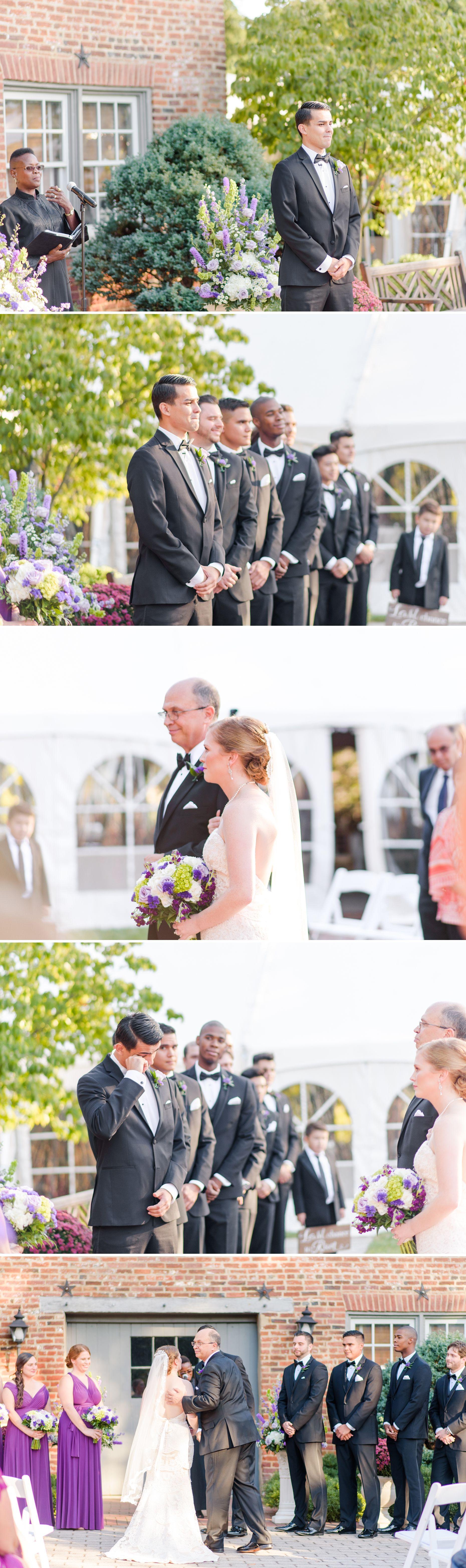 Liz & Luis' Lavender & White Birkby House Wedding in ...