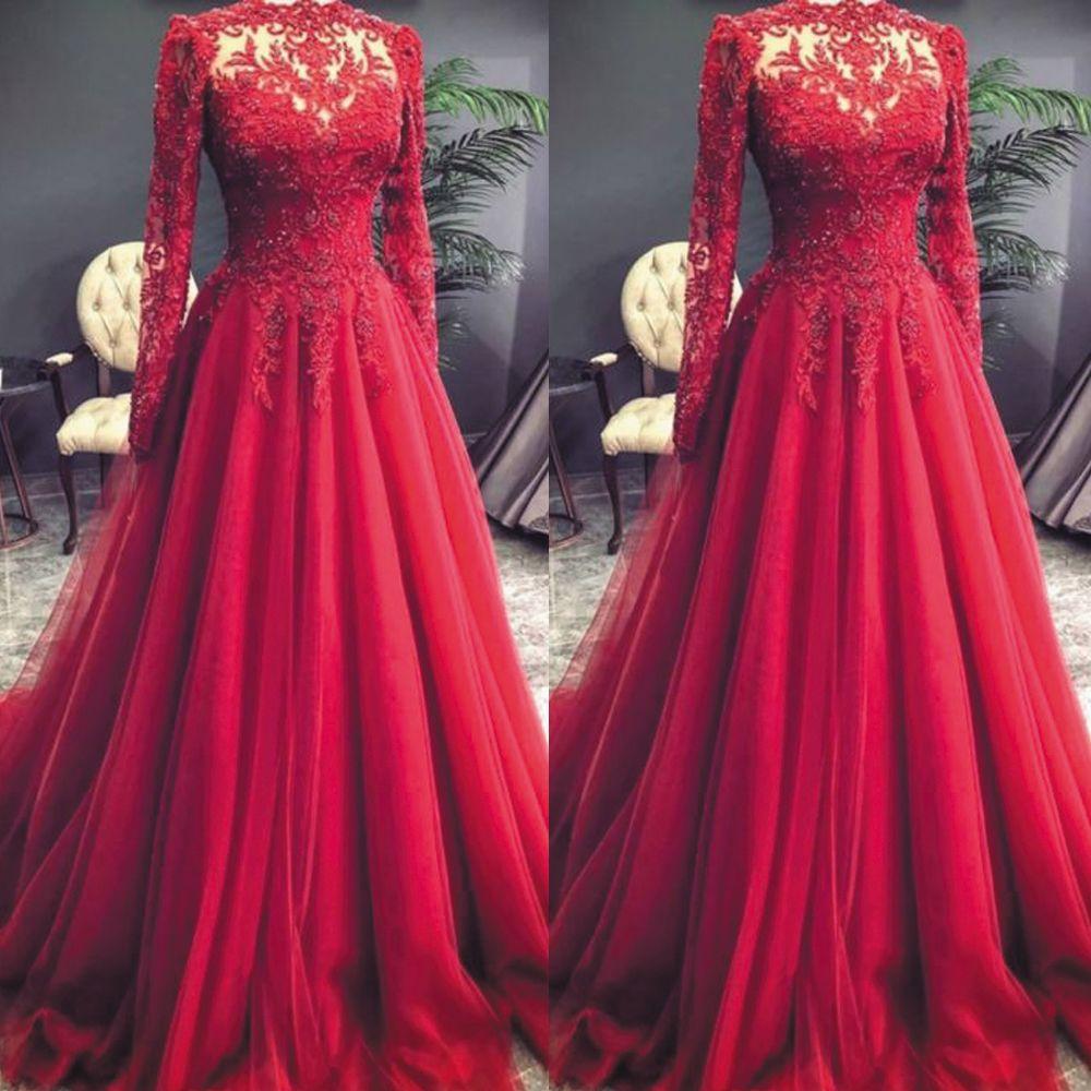 Vintage Prom Dress Red Prom Dress Lace Applique Prom Dresses Beaded Prom Dresses Long Sl Prom Dresses Long With Sleeves Prom Dresses Vintage Red Prom Dress [ 1000 x 1000 Pixel ]