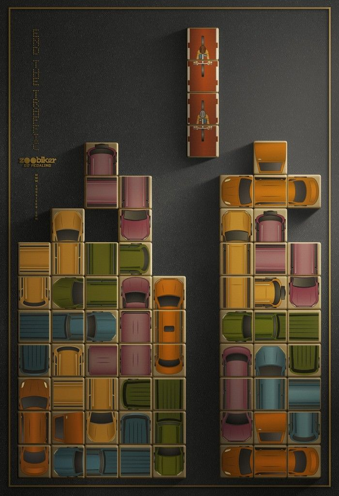 "Zoobiker: ""End the traffic."" #Advertising #Tetris"
