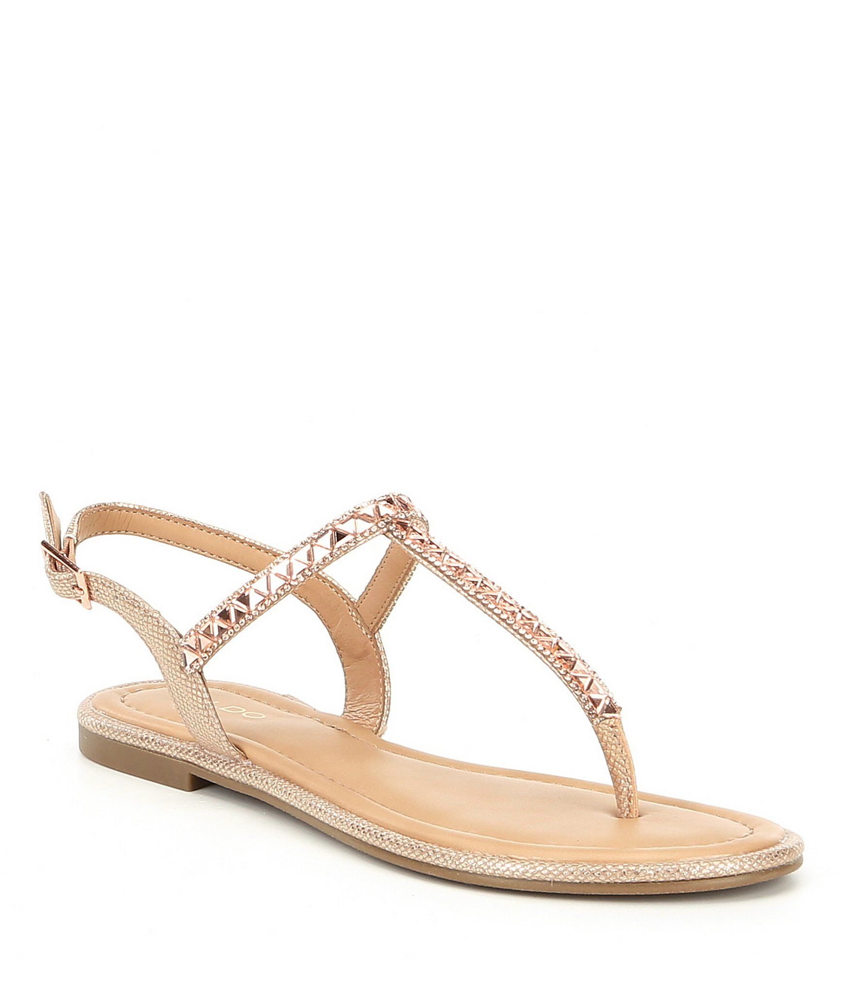 c9a26cb24d13 ALDO Sheeny Embellished Thong Sandals  Dillards