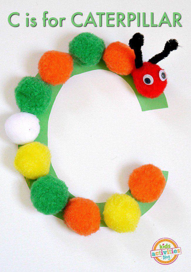 C Is For Caterpillar Letter C Craft Kidsactivities Com Letter C