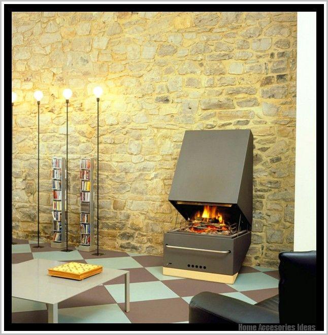 Wandgestaltung Hinter Kaminofen -   homeaccesoriesideas - wohnzimmer ideen kamin