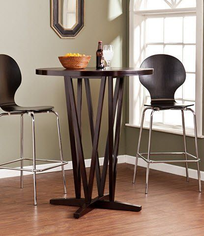 0570845d48e Upton Home Hubert Dark Espresso Small Round Breakfast Bar Dining Table Tall  Kitchen Table