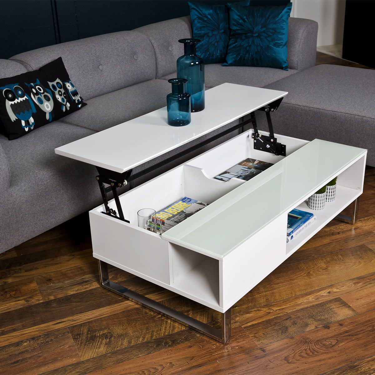 table basse rectangulaire aliz blanc 110 cm 49942 achat vente table basse sur. Black Bedroom Furniture Sets. Home Design Ideas