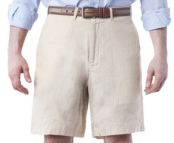 Lighthouse Linen Shorts Natural by Castaway Clothing