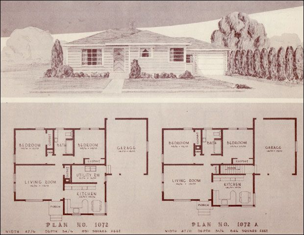 Mid Century Modern House Plans | 1948 Homes — Home Building Plan ...