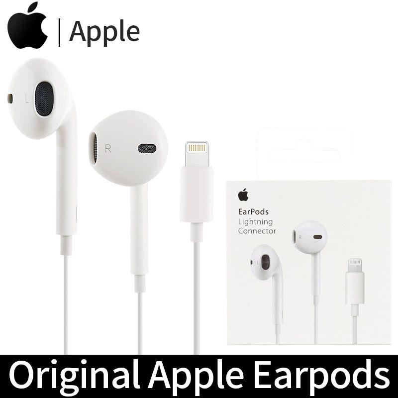 Original Apple Earpods With Lightning Connector Wired Earphones In Ear Sport Earbuds Deep Richer Bas Earbuds Sport Earbuds Earphone