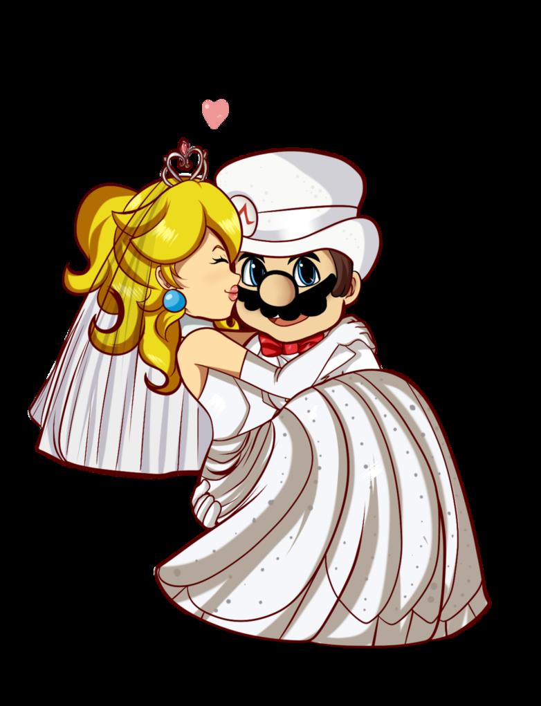 AT: Wedding Mario x Peach by TeLinkfan1.deviantart.on